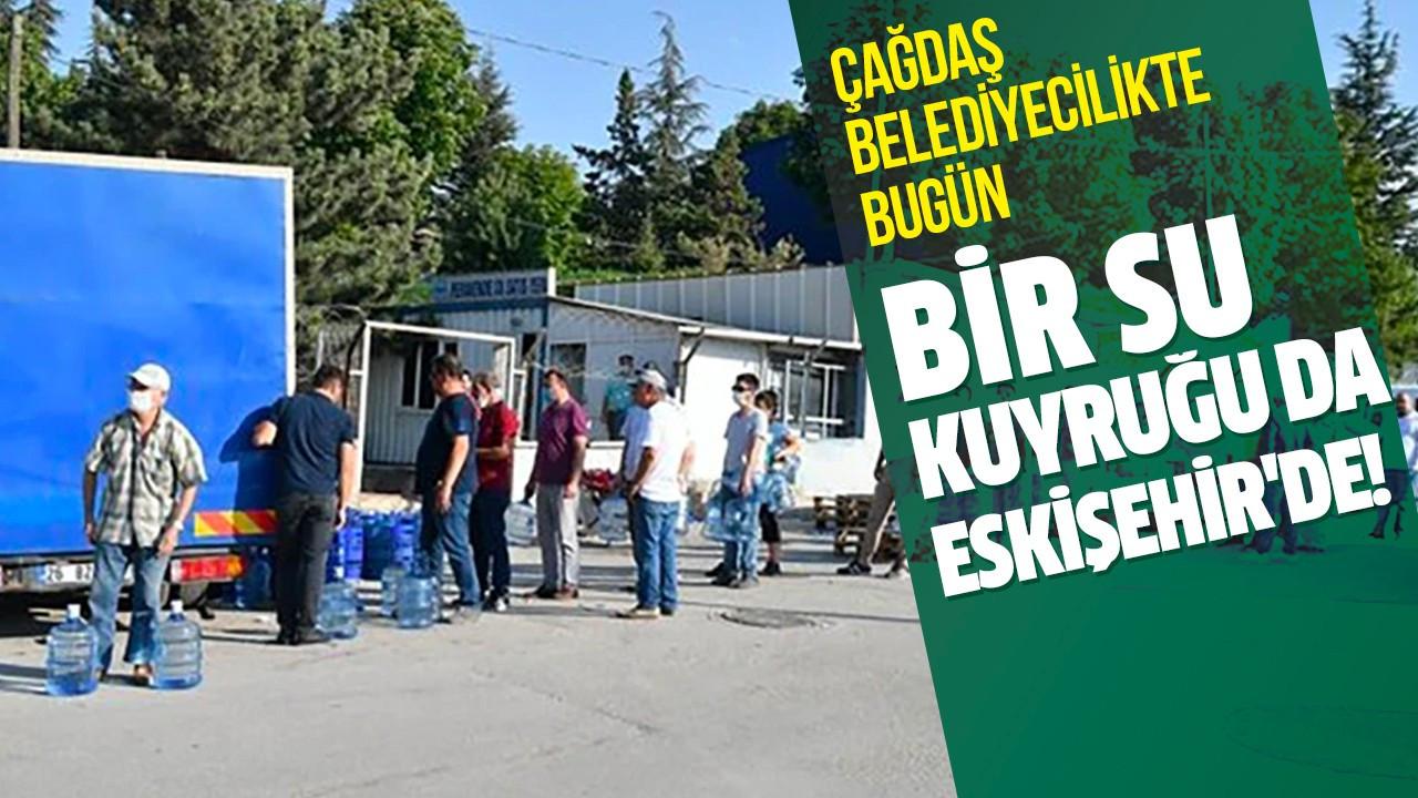 Bir su kuyruğu da Eskişehir'de!