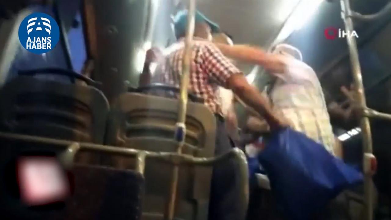 Edirne'de minibüsteki yolcuların maske kavgası