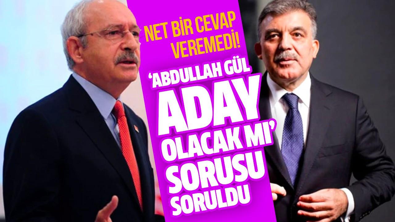 'Abdullah Gül aday olacak mı' sorusu soruldu