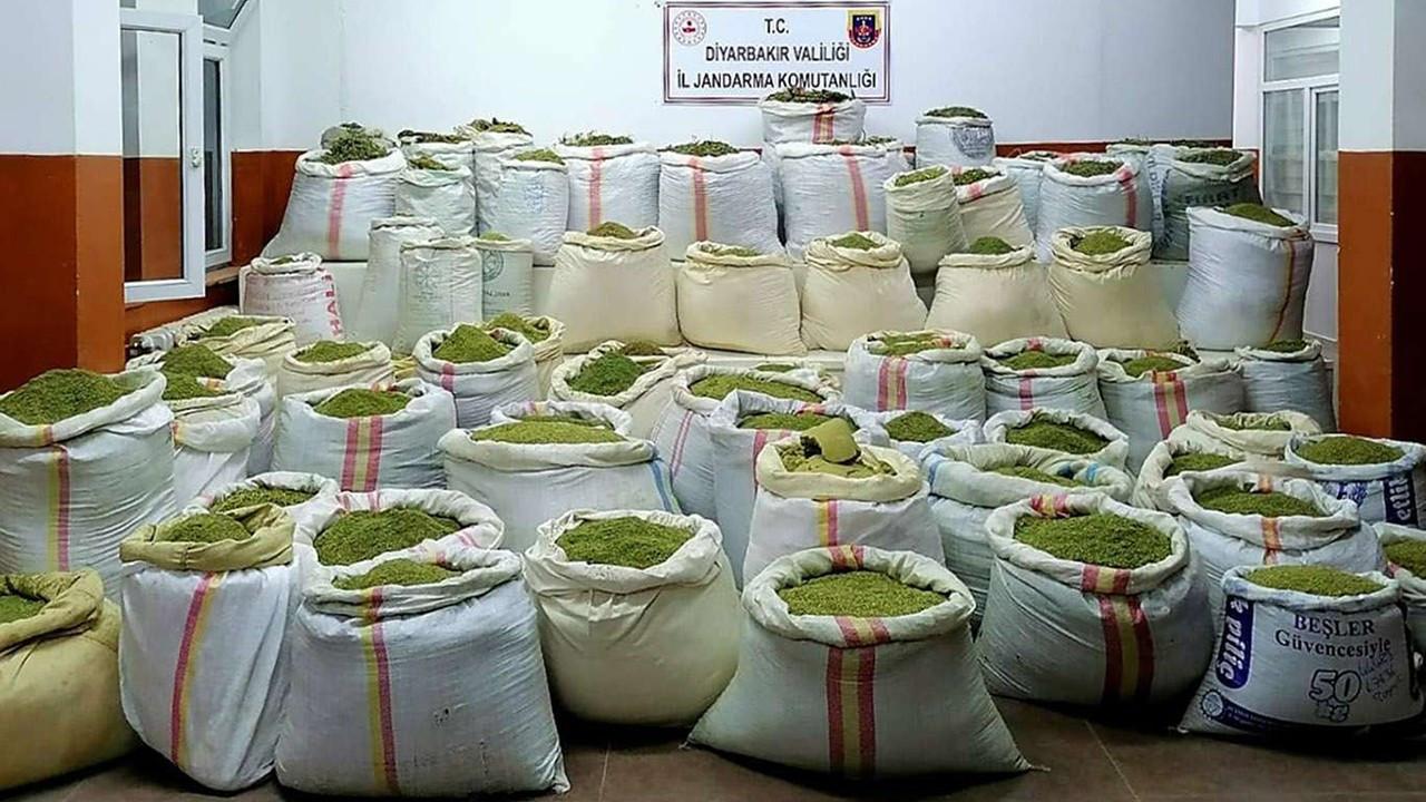 Diyarbakır'da 5 ton uyuşturucu ele geçirildi