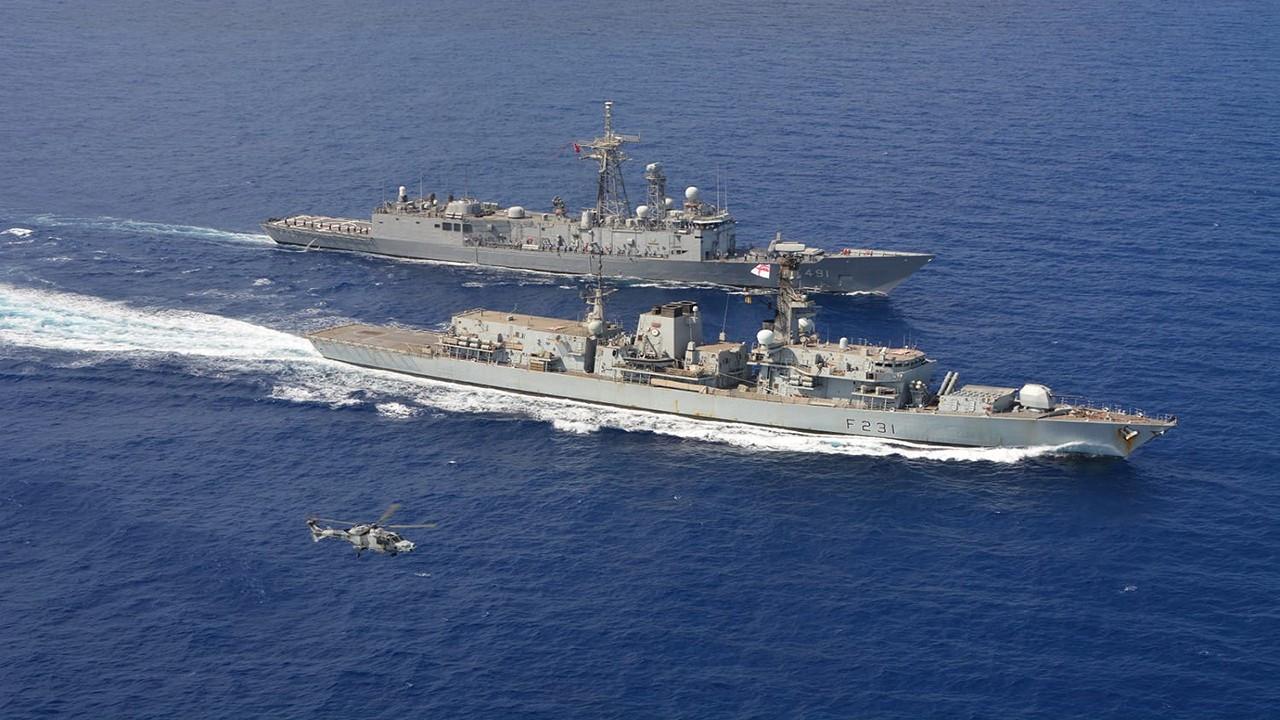 Doğu Akdeniz'de İngiltere ile ortak tatbikat