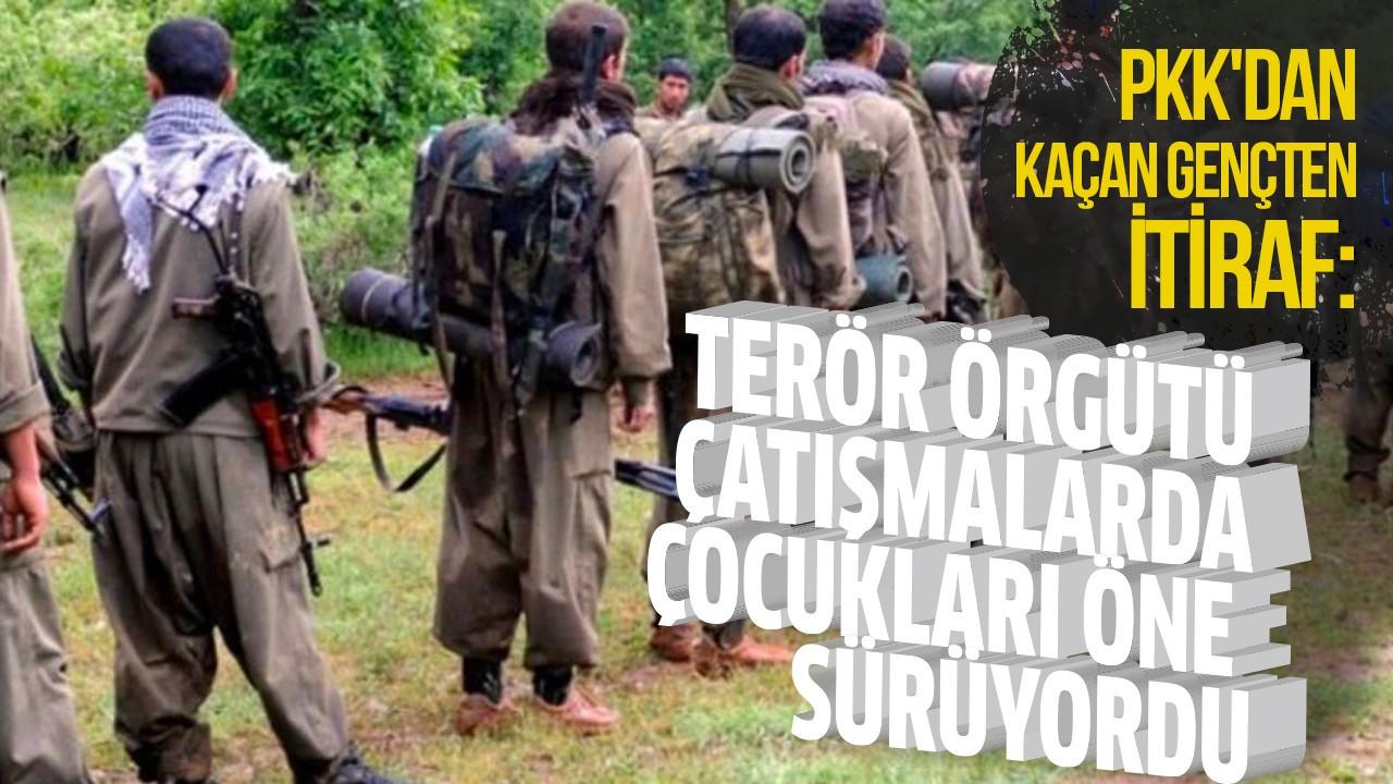 Terör örgütü çatışmalarda çocukları öne sürüyordu