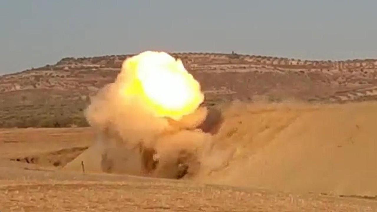 Afrin'de 75 kilo patlayıcı yüklü araç imha edildi