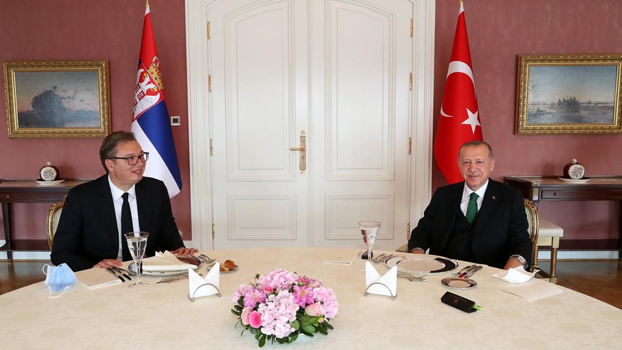 Erdoğan, Sırbistanlı mevkidaşı Vucic ile görüştü