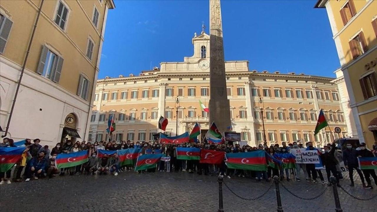 İtalya'da Ermenistan protesto edildi