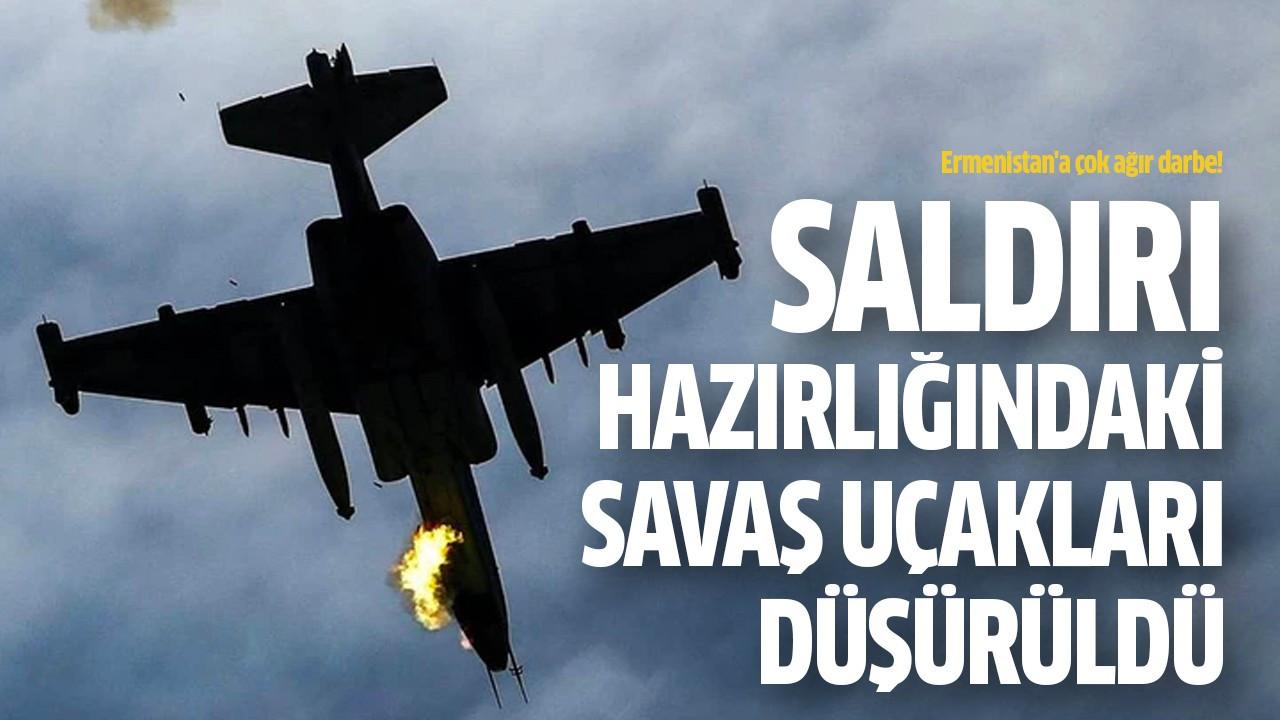 Saldırı hazırlığındaki savaş uçakları düşürüldü