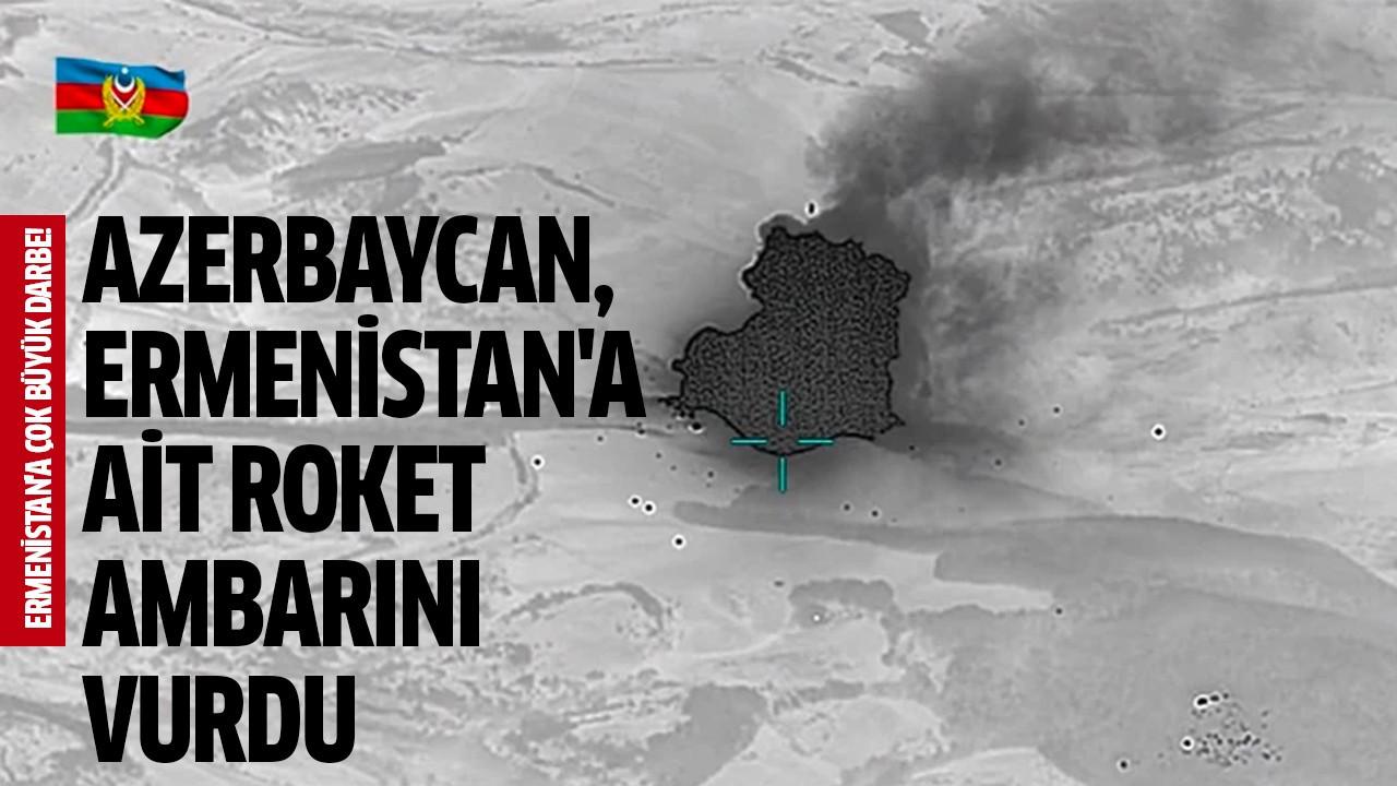 Azerbaycan, Ermenistan'a ait roket ambarını vurdu