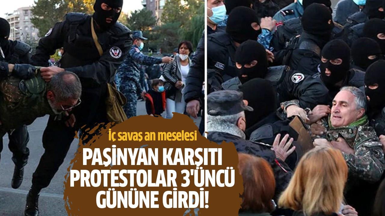 Paşinyan karşıtı protestolar 3'üncü gününe girdi!