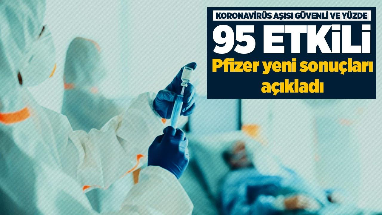 Koronavirüs aşısı güvenli ve yüzde 95 etkili