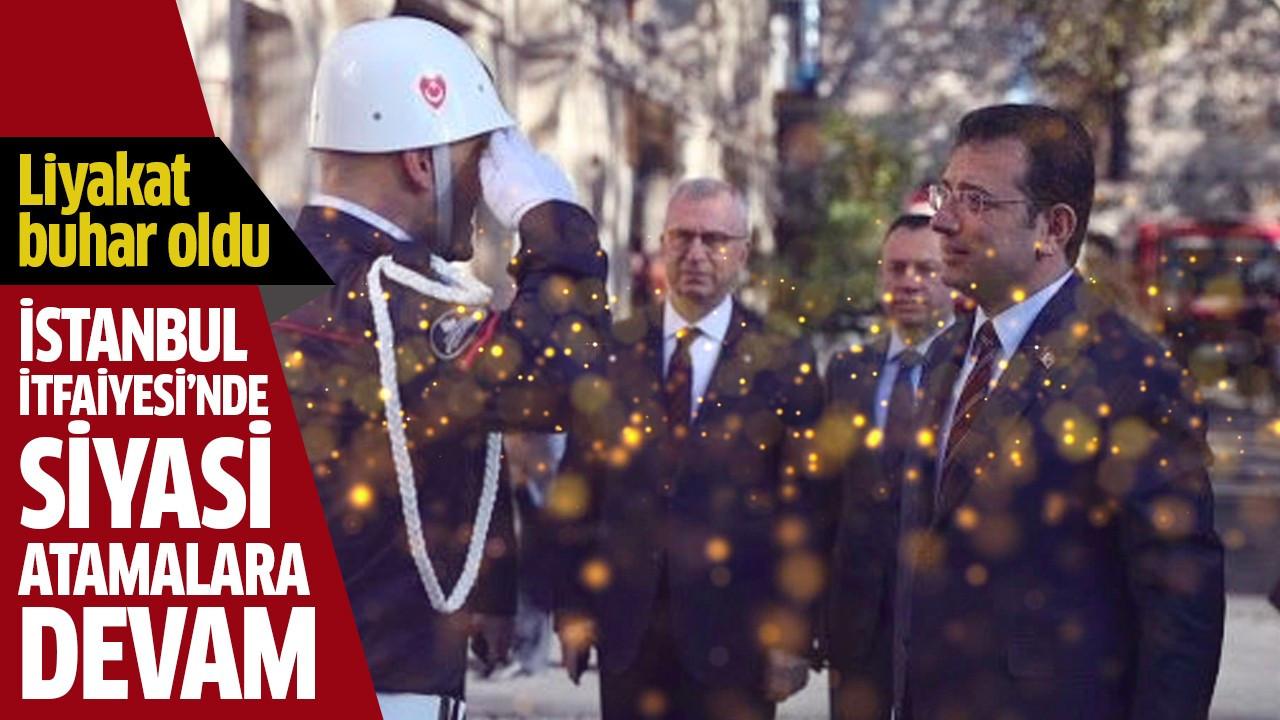İstanbul İtfaiyesi'nde siyasi atamalara devam