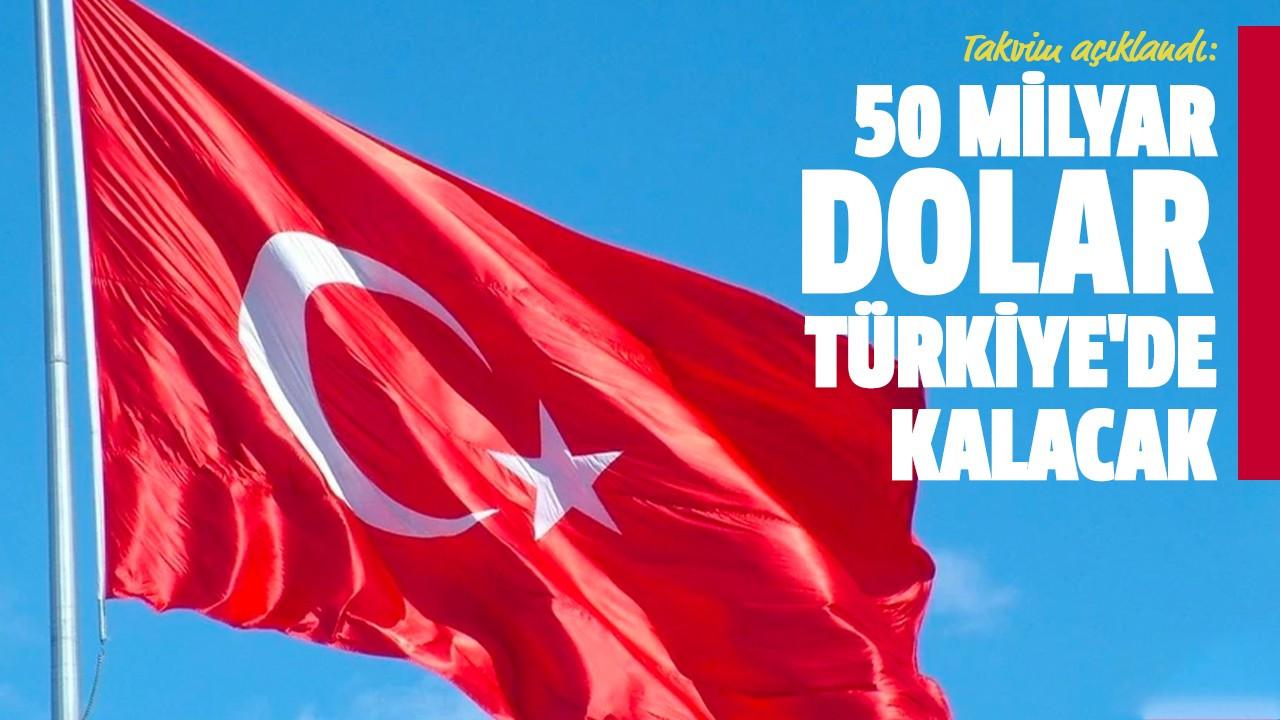 50 milyar dolar Türkiye'de kalacak