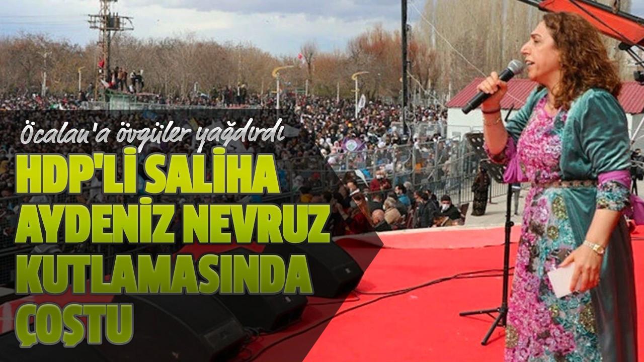 HDP'li Saliha Aydeniz nevruz kutlamasında çoştu