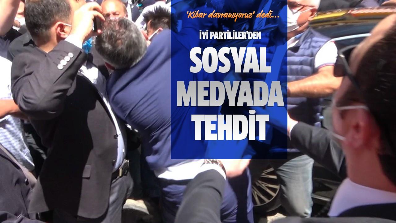 İYİ Partililer'den sosyal medyada tehdit