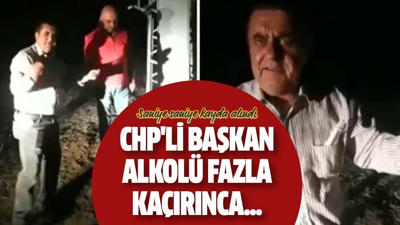 CHP'li başkan alkolü fazla kaçırınca...