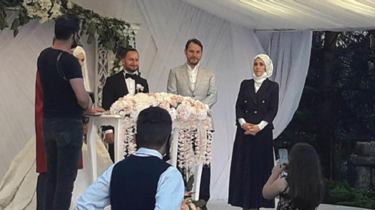 Berat Albayrak ve eşi nikah şahidi oldu