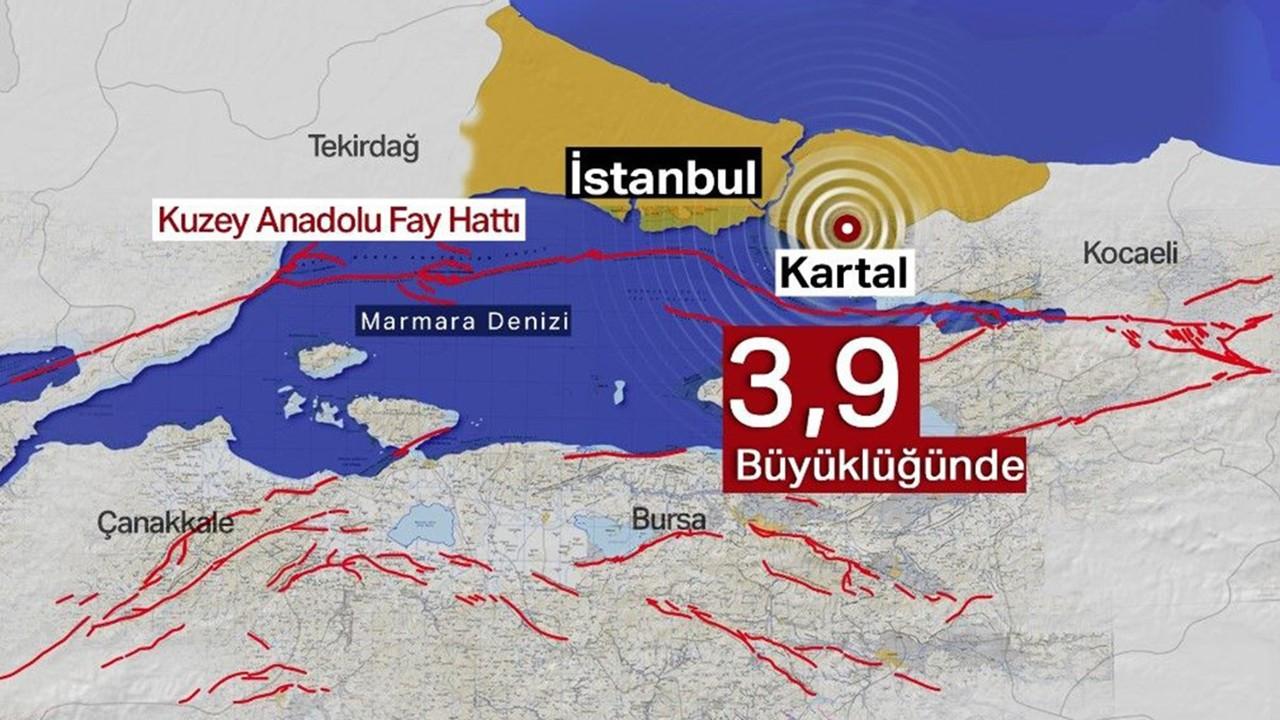 İstanbul'da 3,9'luk korkutan deprem!