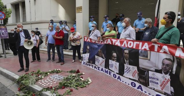 Yunanistan'da sağlık çalışanlarından eylem