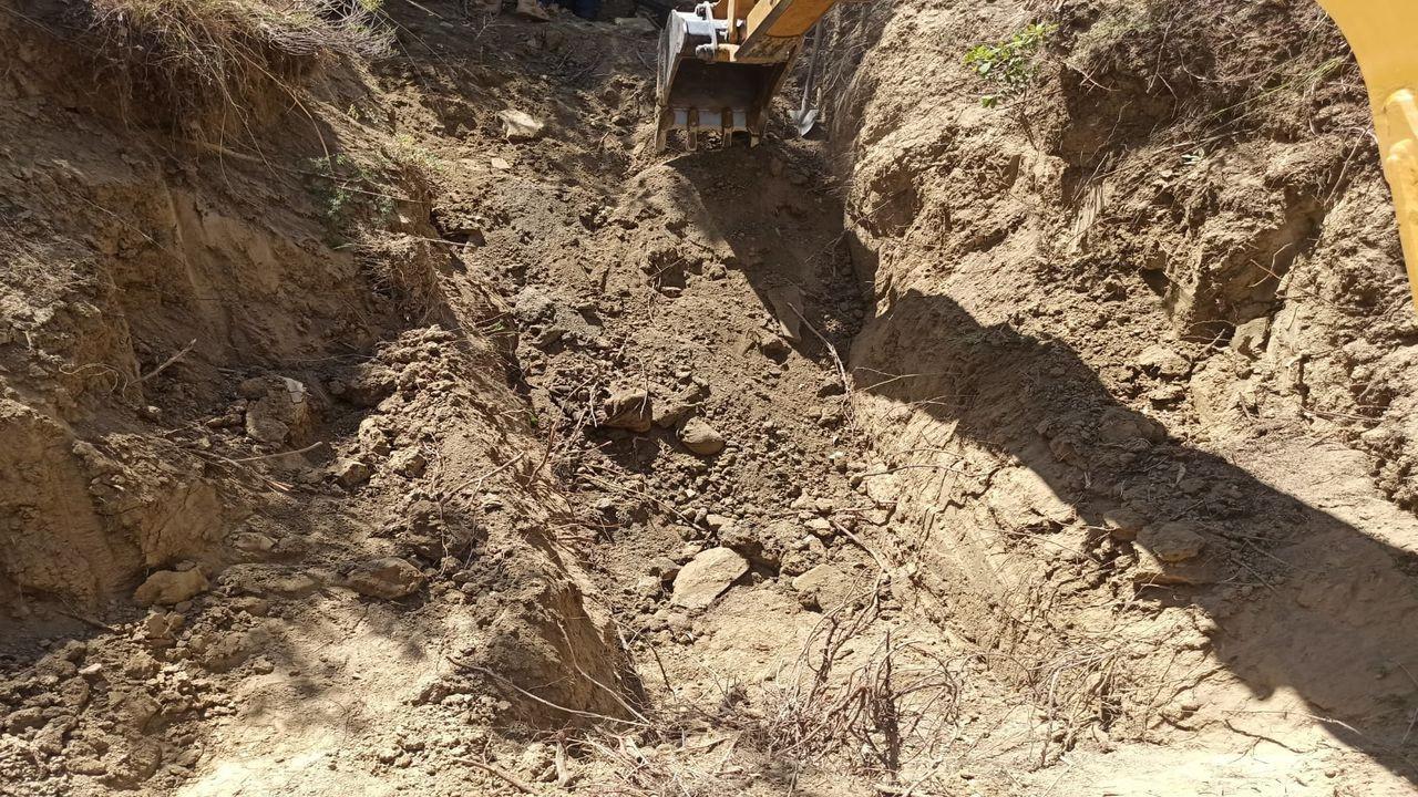 PKK'lı teröristin cesedi toprağa gömülü bulundu