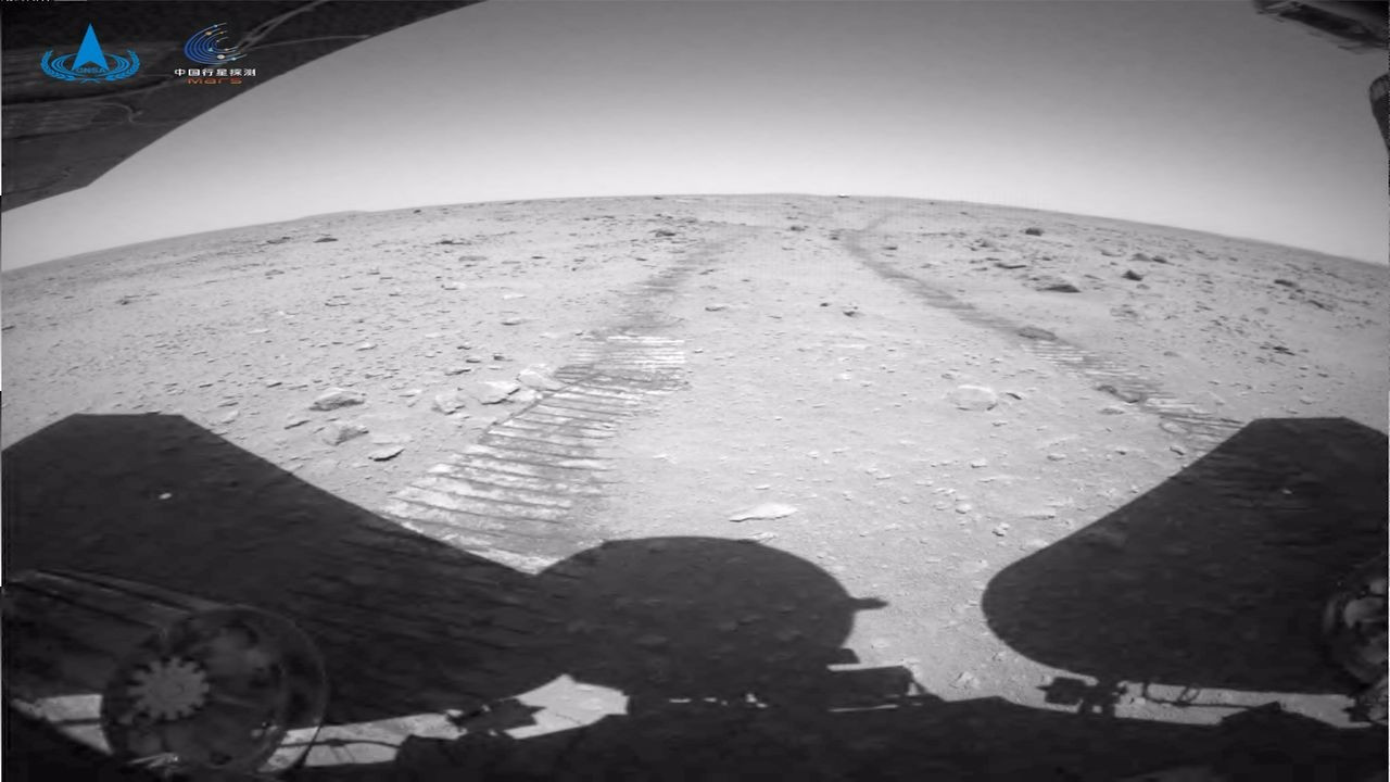 Çin, Mars'a iniş yaptığı videoları yayımladı.