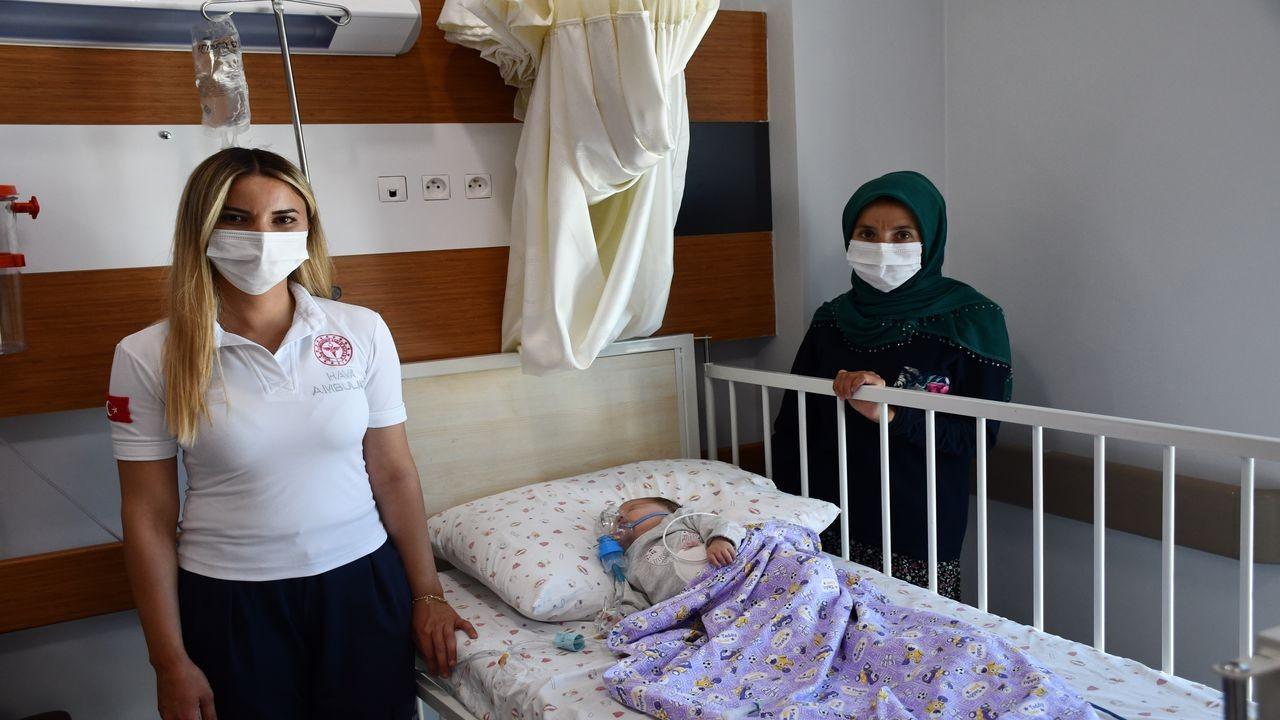 Meliha bebek kaldırıldığı hastanede yaşama tutundu