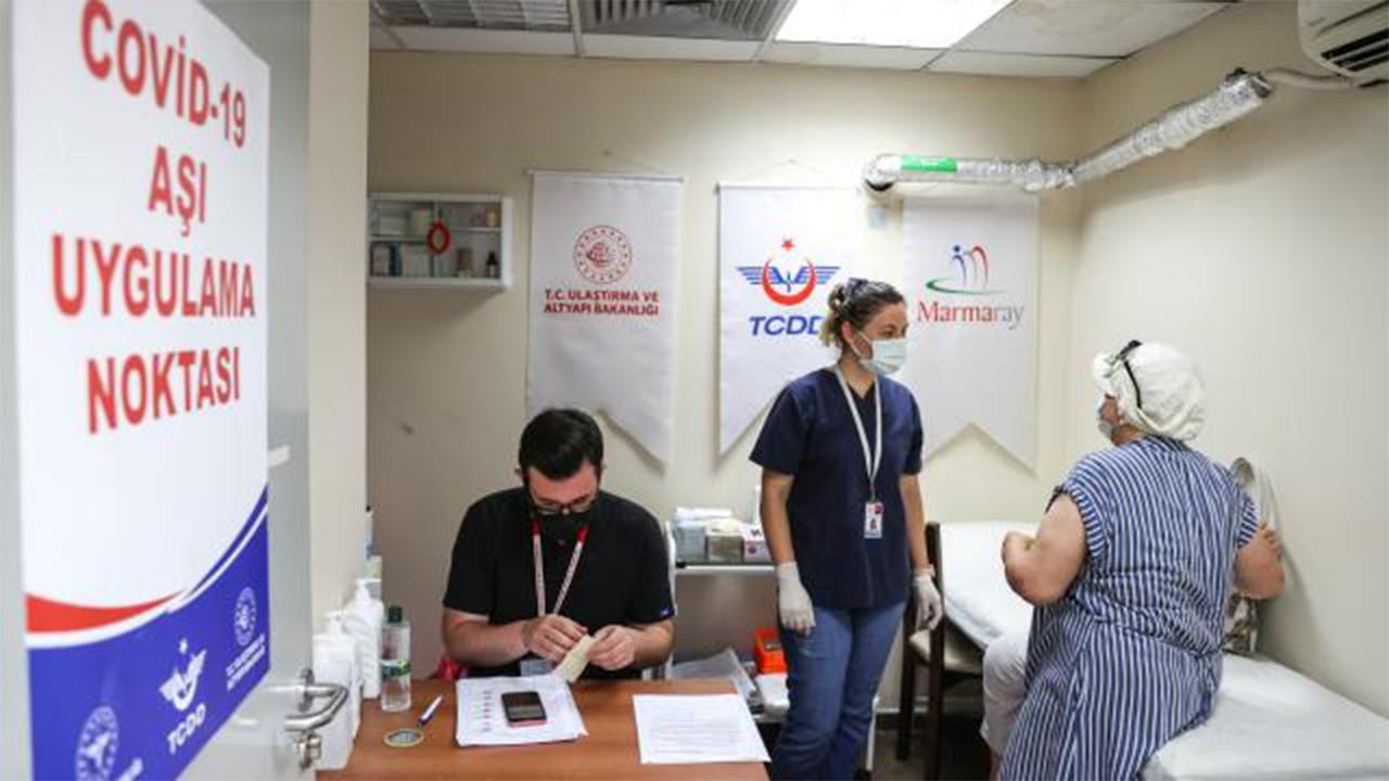 Marmaray'da aşı uygulaması başladı