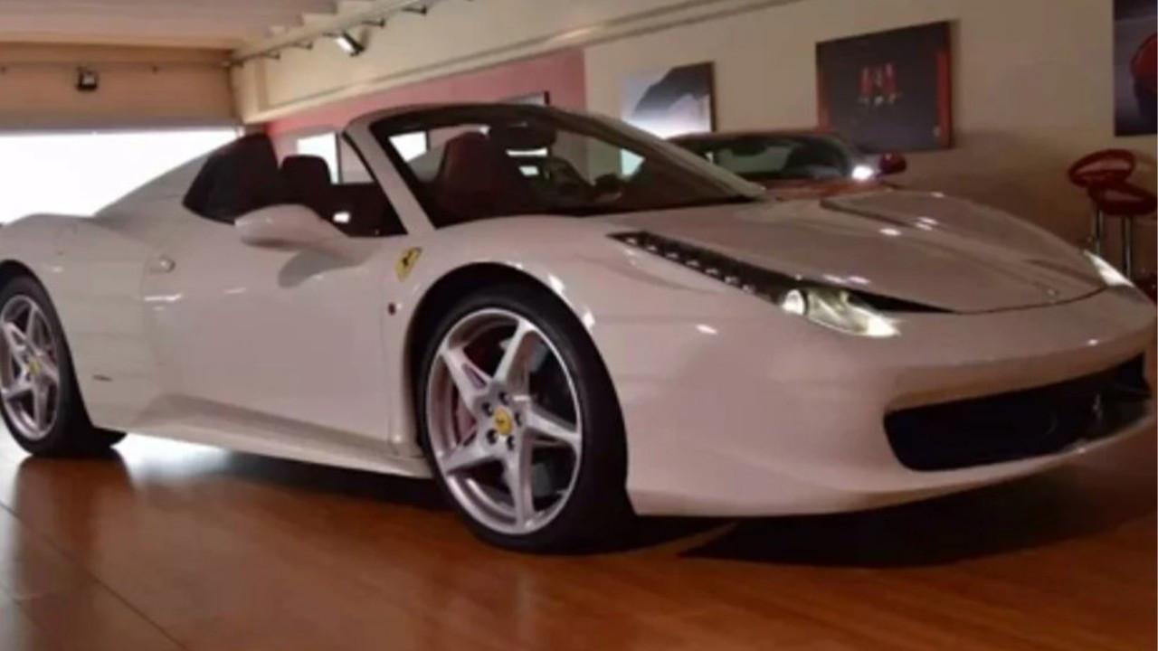 Başını yakan Ferrari'nin görüntüleri ortaya çıktı