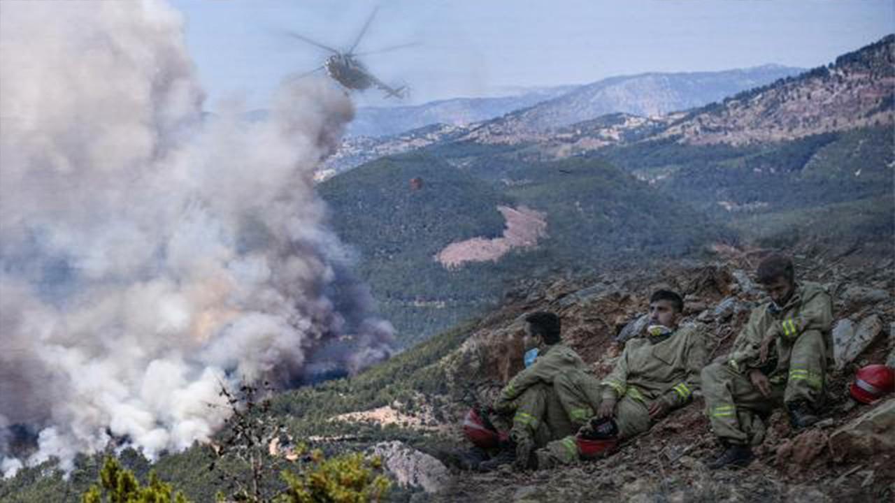 Mersin ve Hatay'da orman yangınları devam ediyor
