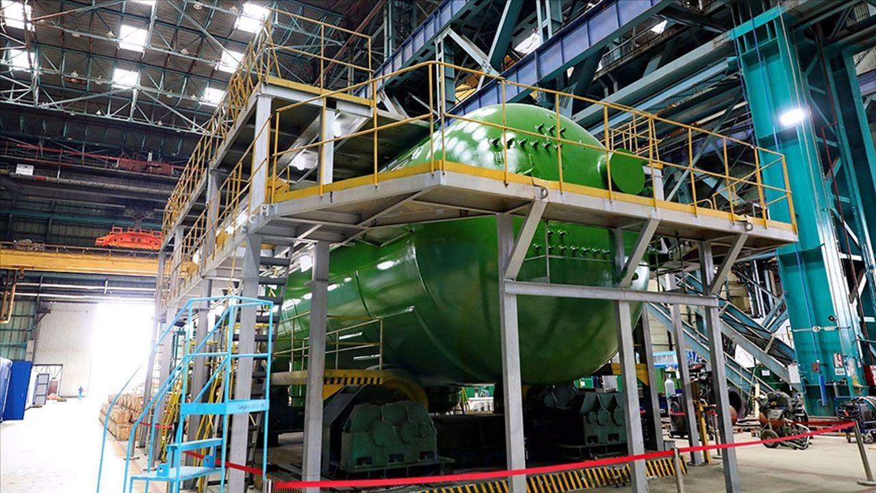 ilk buhar jeneratörünün üretimi tamamlandı