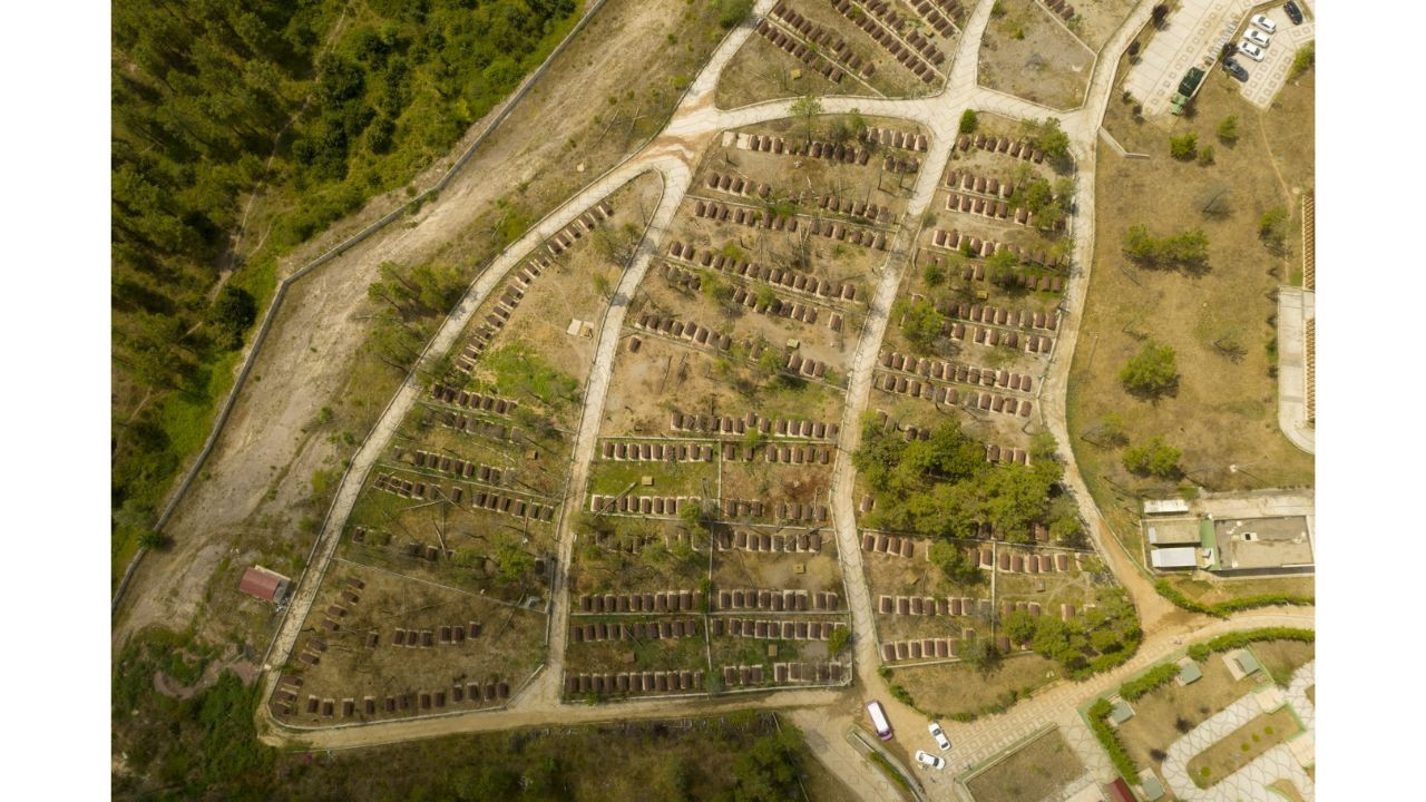İBB'ye ait bakımevi, havadan görüntülendi