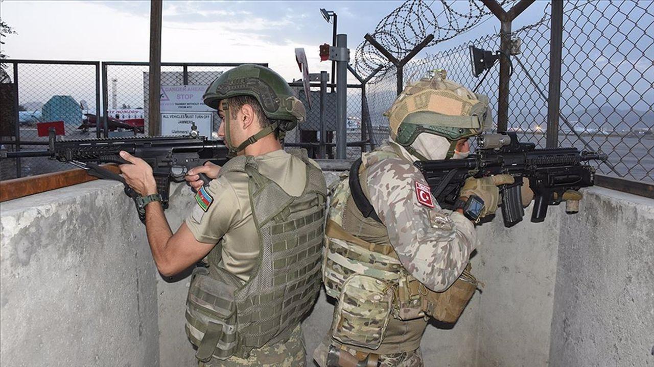 Türkiye ve Azerbaycan askerleri görev yapıyor