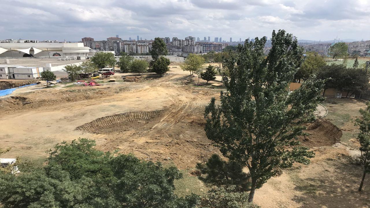 Eyüpsultan'daki parkta, İBB'nin yıkımı durduruldu