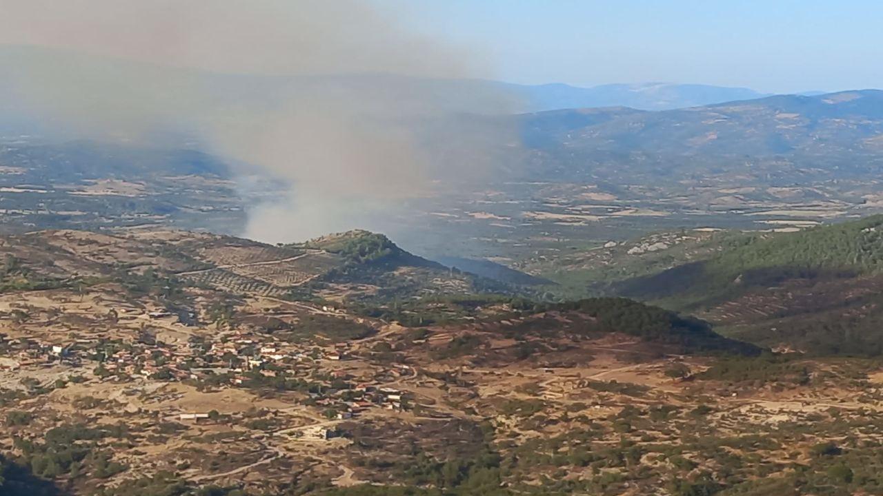 Balıkesir'de yangına havadan ve karadan müdahale