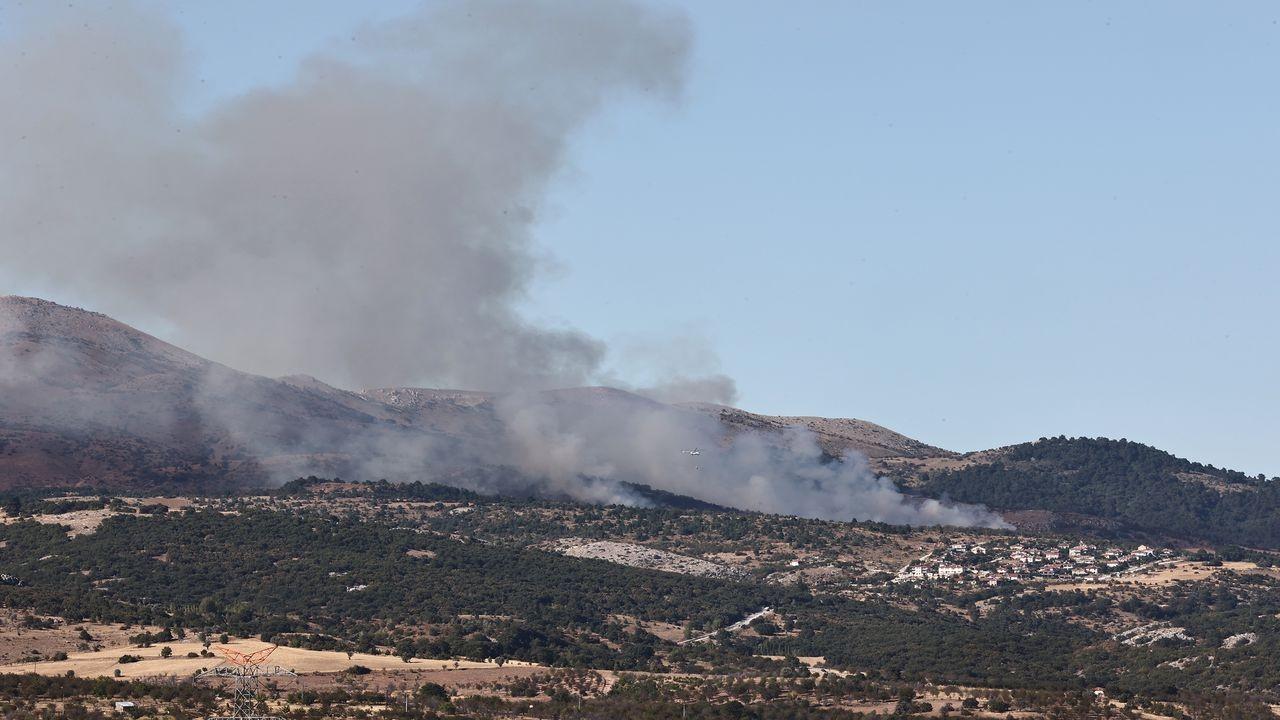 Ankara Çubuk'ta çıkan yangına müdahale ediliyor
