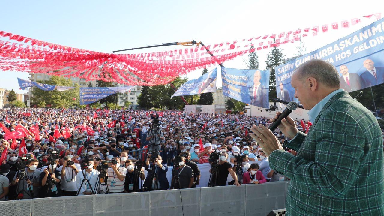 Erdoğan, Kahramanmaraş'taki törende konuştu