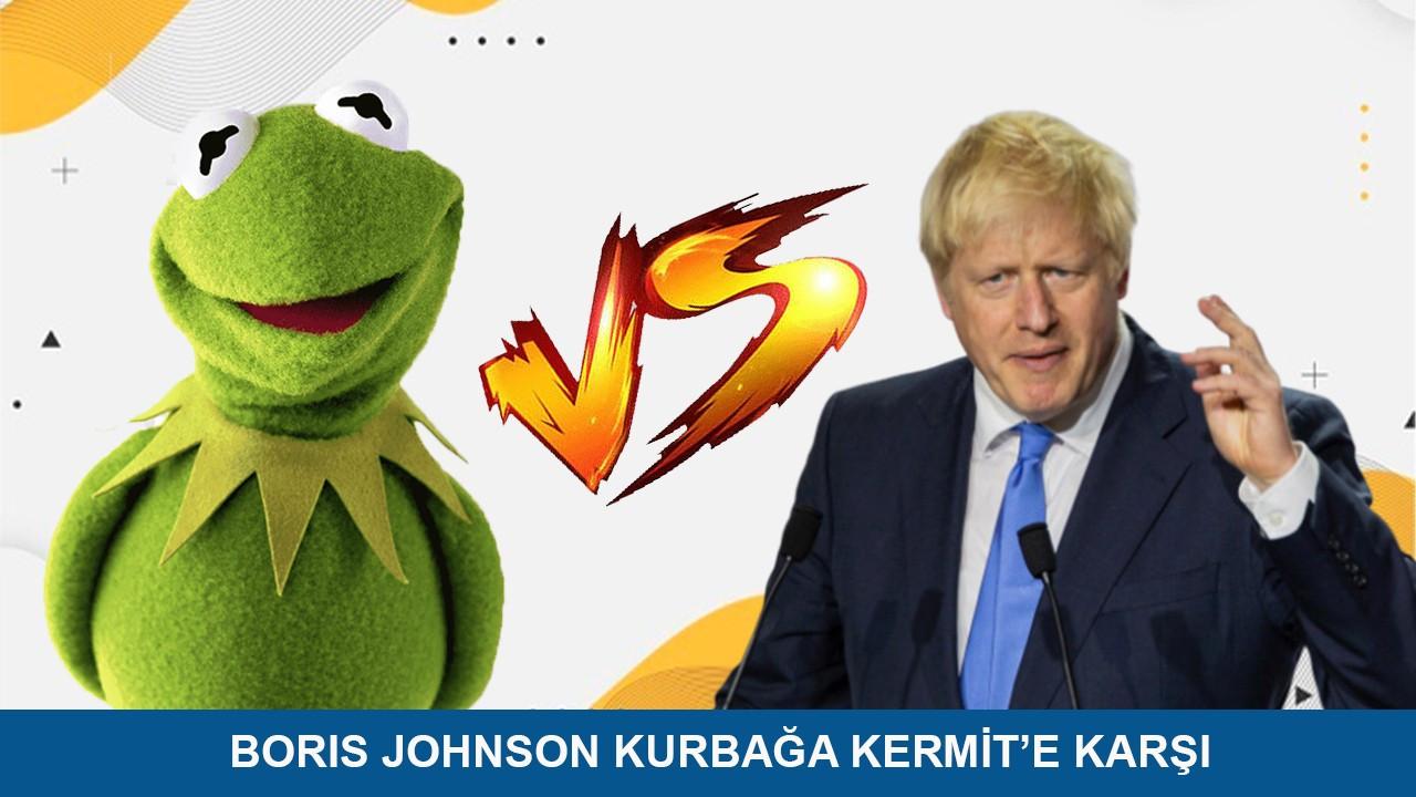 Boris Johnson kurbağa Kermit'e karşı