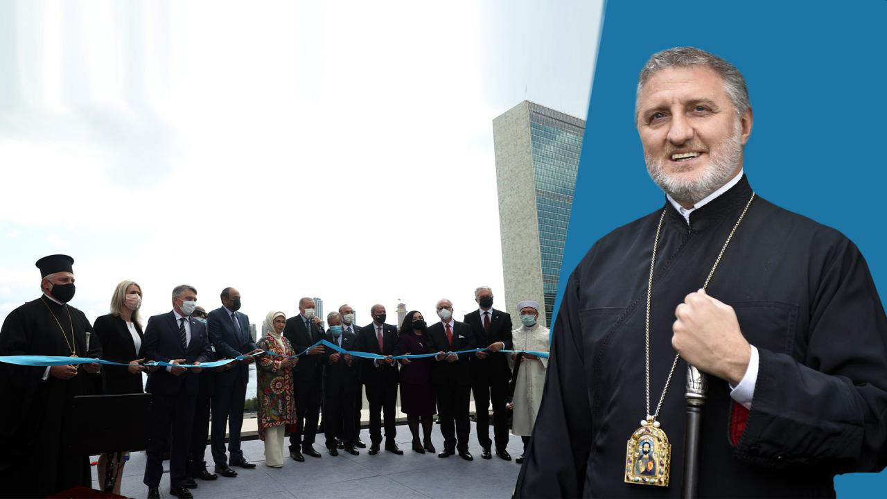 Türkevi açılışına katılan Başpiskopasa Yunan linci
