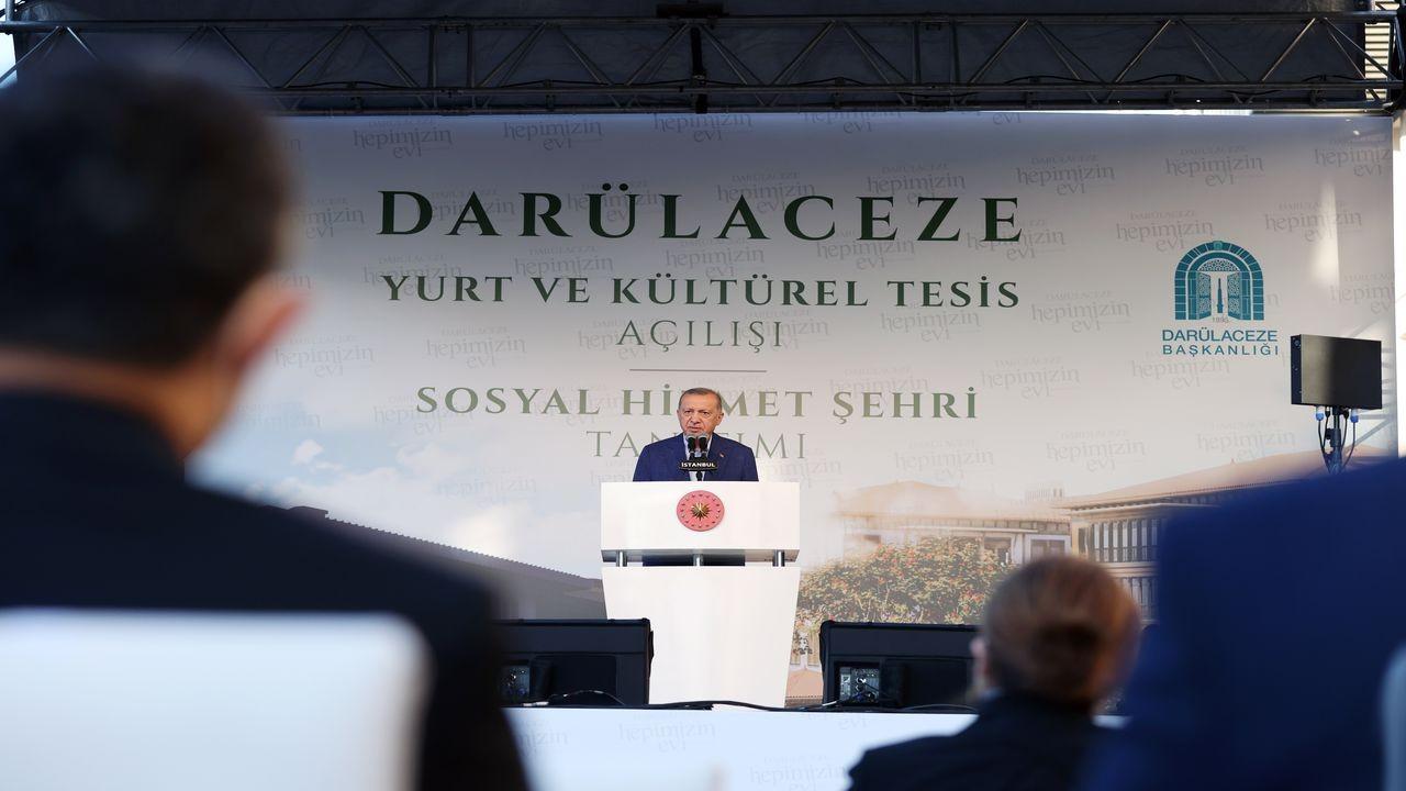 Cumhurbaşkanı Erdoğan, Darülaceze'de konuştu