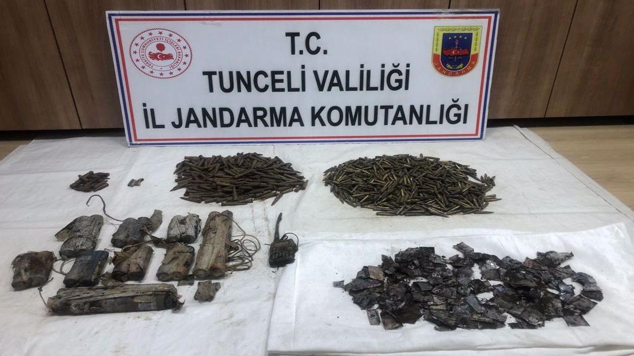 Tunceli'de 5 odalı sığınak imha edildi