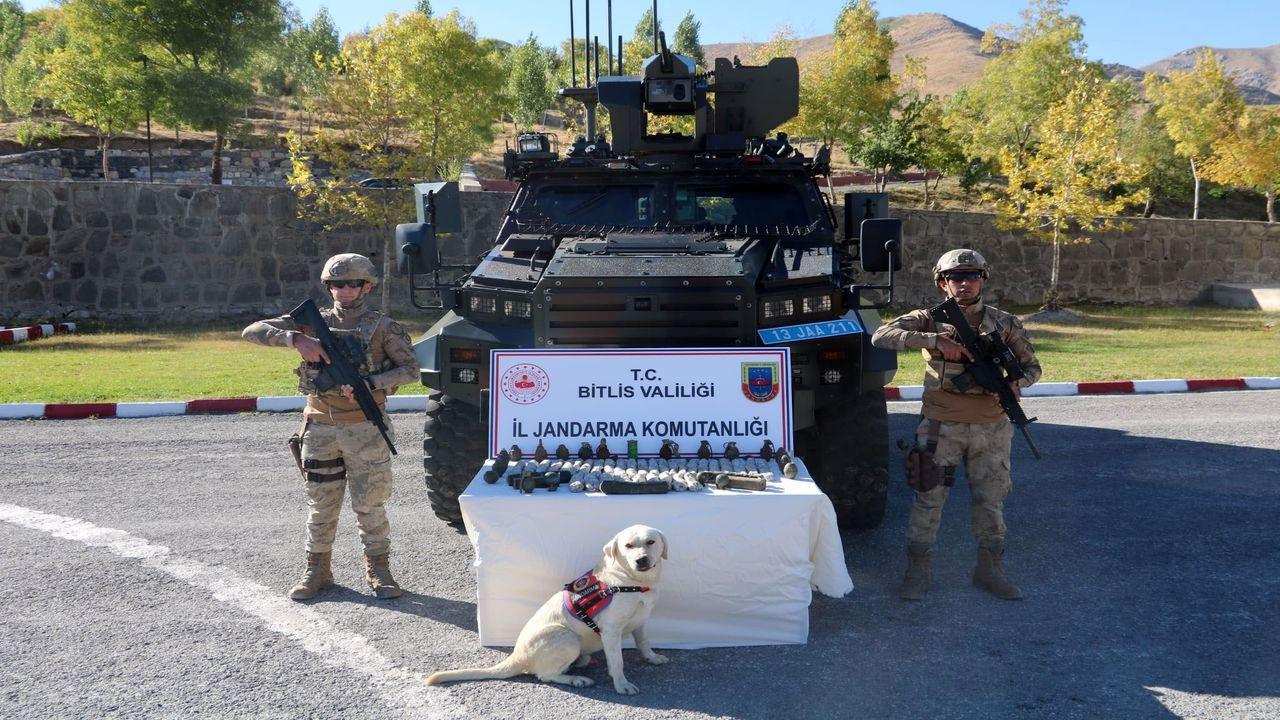 Bitliste teröristlere ait patlayıcılar imha edildi