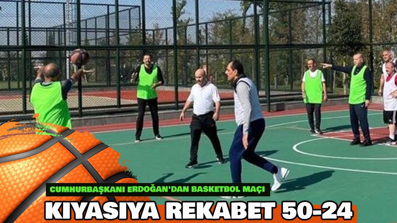 Cumhurbaşkanı Erdoğan'dan basketbol maçı