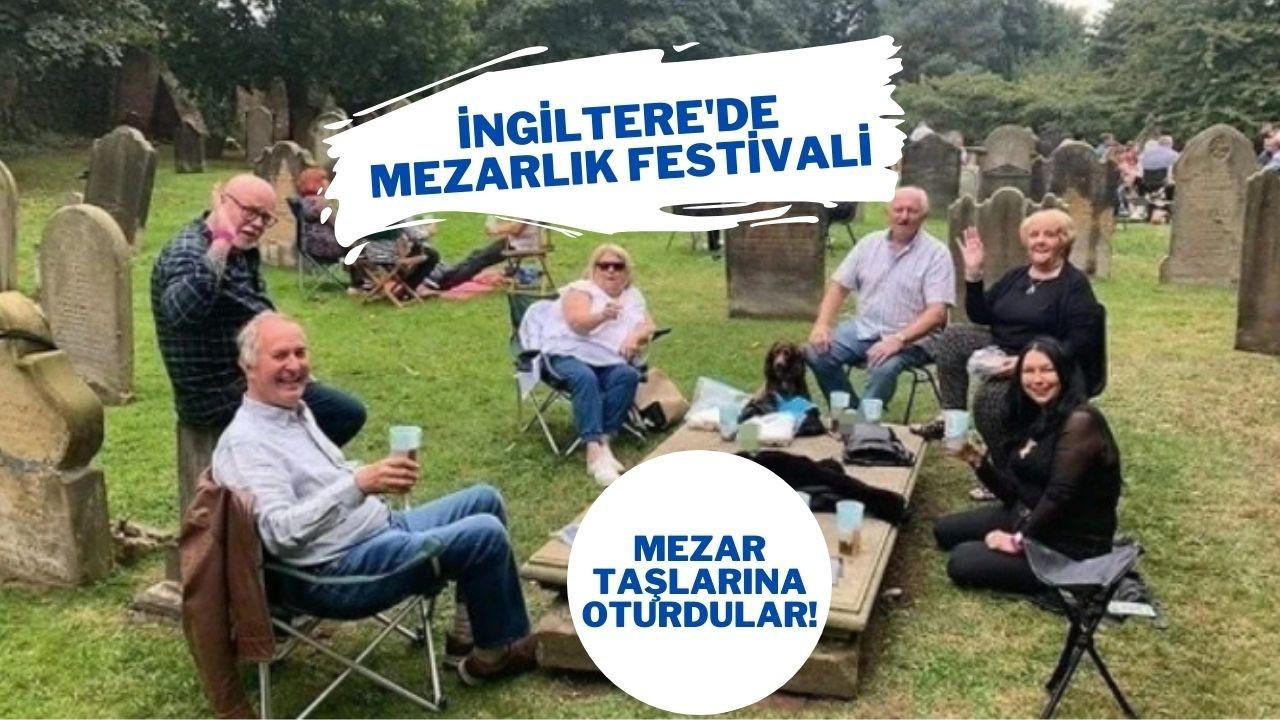 Mezarlıkta bira festivali düzenlediler
