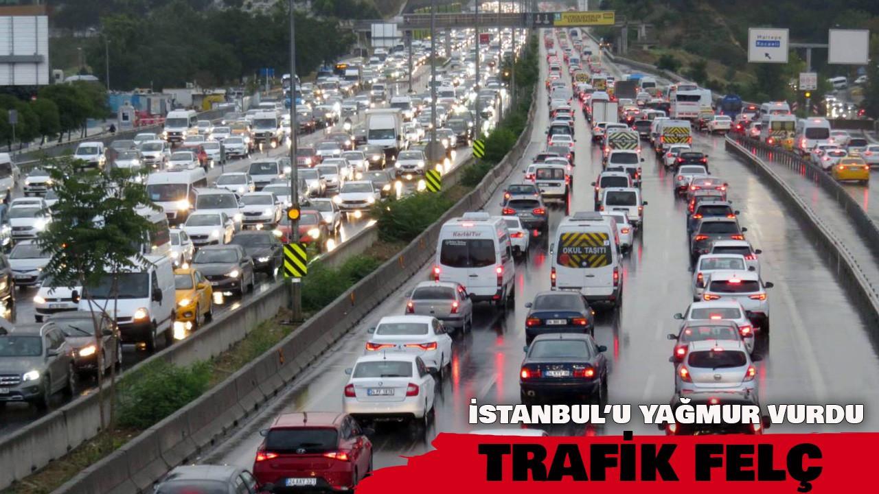 İstanbul trafiğinde yağmur etkisi