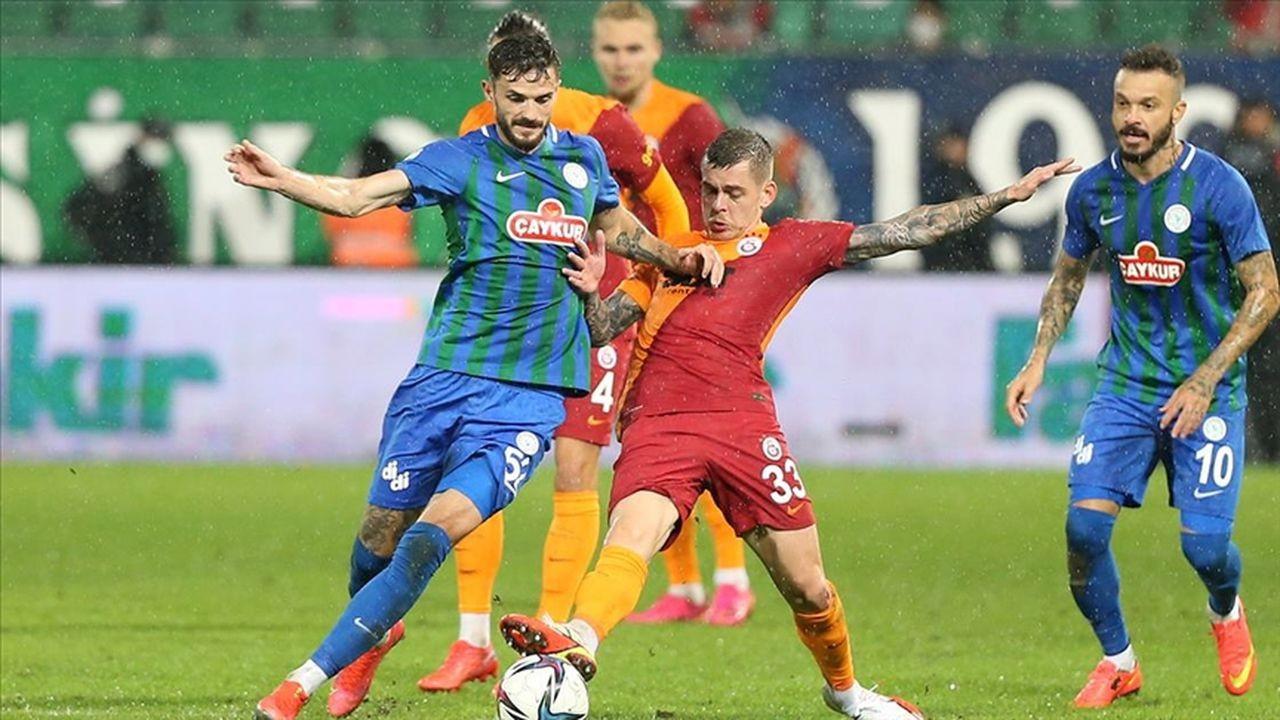 Galatasaray Rize'de son dakikada kazandı