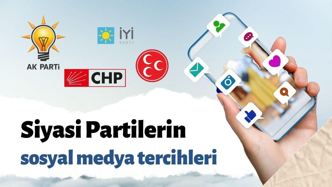 Partilerin sosyal medya tercihleri