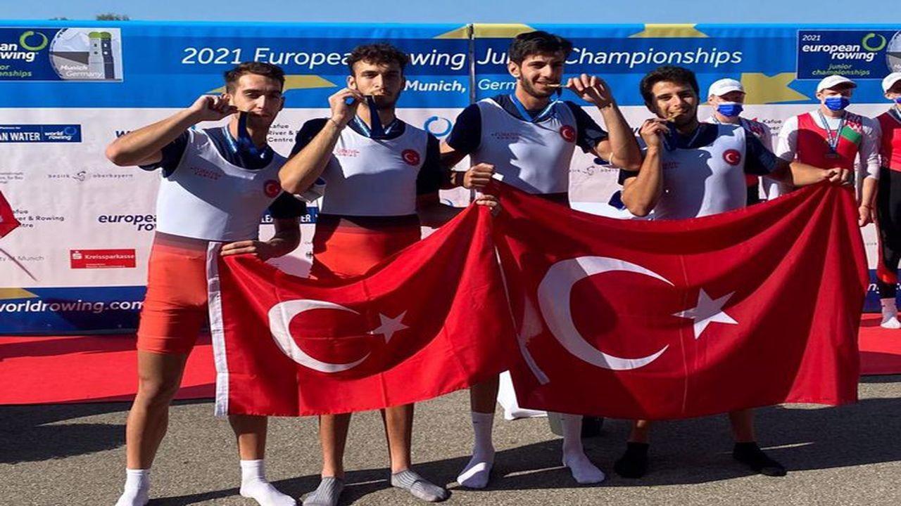 Genç milli kürekçiler Avrupa şampiyonu oldu