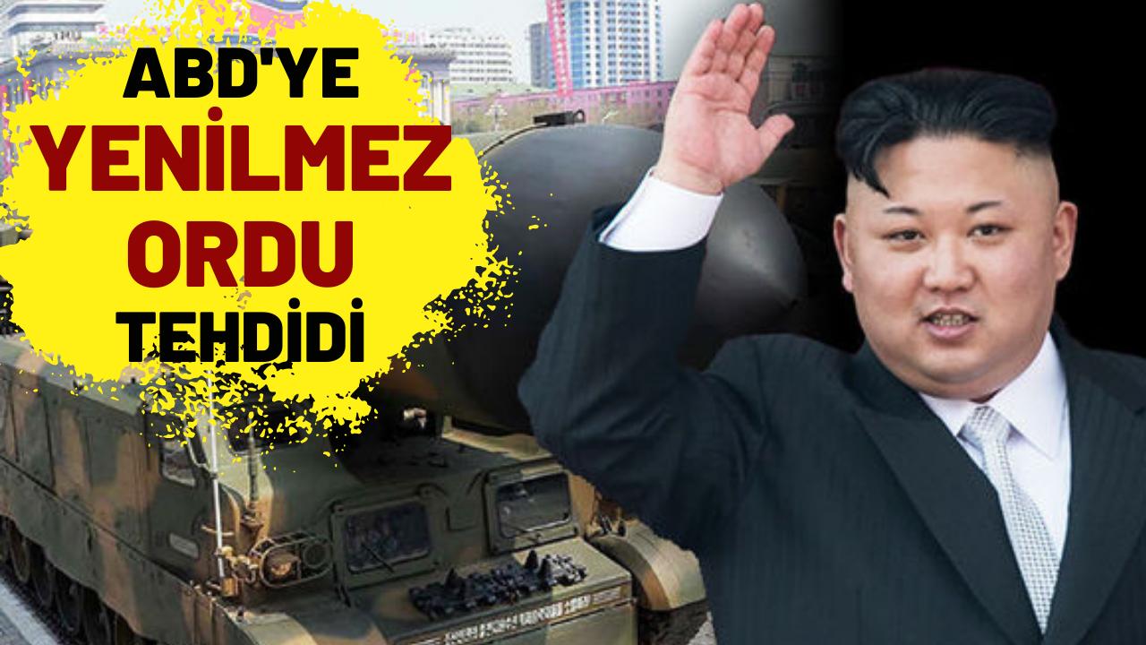 """Kim Jong Un'dan ABD'ye """"Yenilmez Ordu"""" tehdidi"""