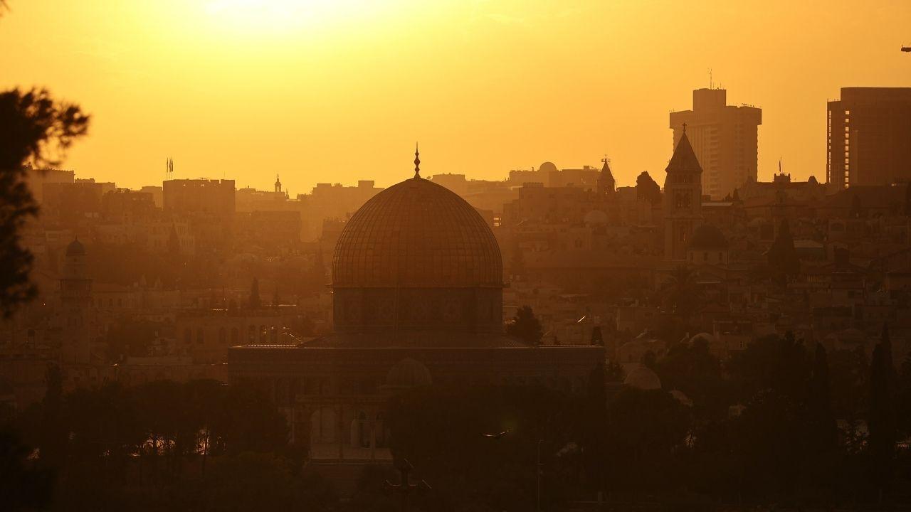 Eşsiz güzelliği ile Kudüs'ten gün batımı manzaraları - Sayfa 1