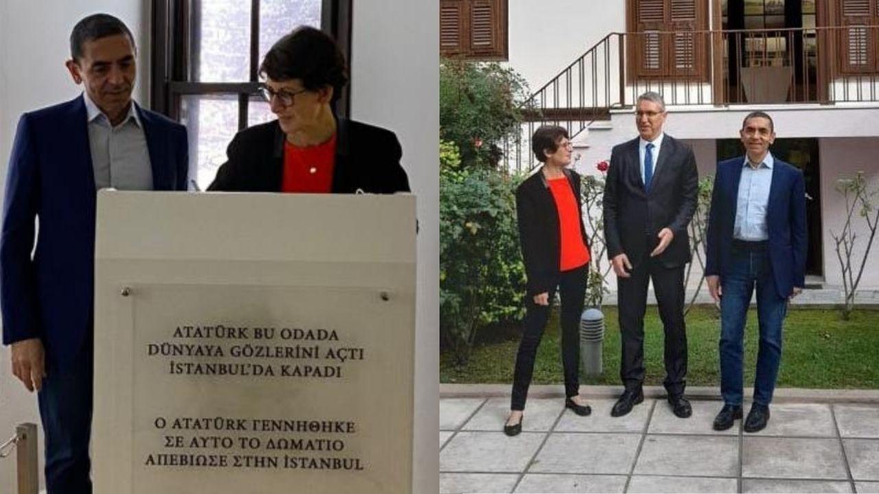 Uğur Şahin ve Özlem Türeci Atatürk Evi'ni ziyaret