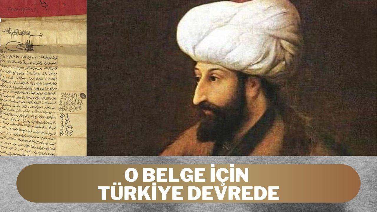 Türkiye Fatih'in fermanı için İnterpol'e başvurdu
