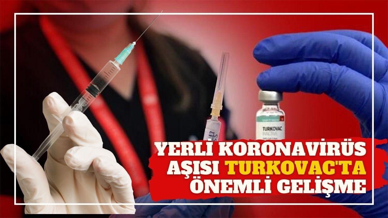 Yerli koronavirüs aşısı Turkovac'ta önemli gelişme